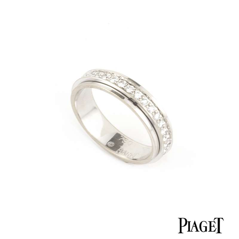 Piaget 18k White Gold Diamond Set Possession Ring B&P G34PK553